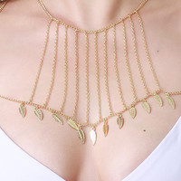 Feather Bust Line Body Chain