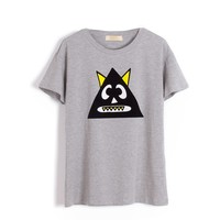 Cartoon Printed Pure Cotton T-Shirt