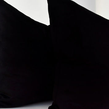 Black Velvet Pillow Cover,Black Velvet Throw,Black Velvet Pillow Cover,Black Velvet Cushion Cover