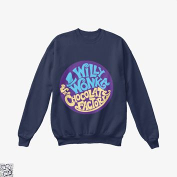 Willy Wonka And The Chocolate Factory, Dragon And Dungeon Crew Neck Sweatshirt