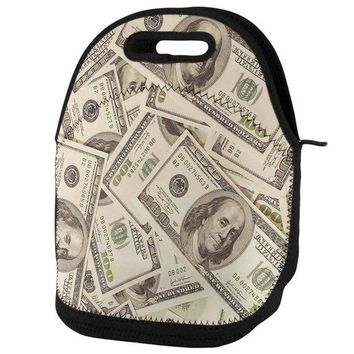 PEAPGQ9 Cash Money Lunch Tote Bag