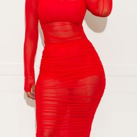 Make Them Guess Dress Red