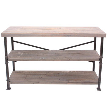 Crestview Midtown Wood and Metal Console - CVFZR887