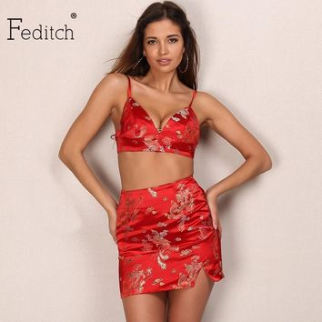 Feditch 2017 New Chinese Embroidery Women Dresses Sexy Summer Dress Vestido De Festa Beach Mini Dress Elegant Ladies Vestidos