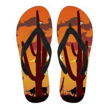 Ladies - Cactus Art Flip Flop