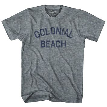 Virginia Colonial Beach Adult Tri-Blend Vintage T-shirt
