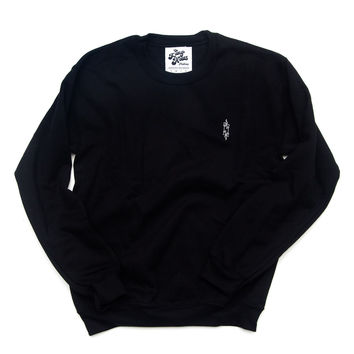 Candle Crewneck (Black, White)