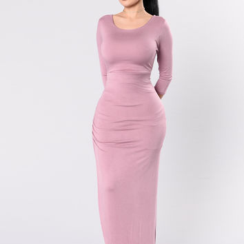 Think About Me Dress - Rose
