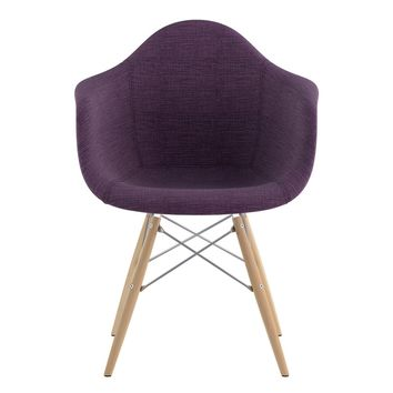 Mid Century Dowel Arm Chair Plum Purple