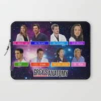 Greys Anatomy nicknames Laptop Sleeve by QueenOfAwesome95