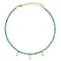 Crybaby Cry Choker in Turquoise and Gold