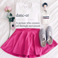 Dancer Dict Graphic Tops