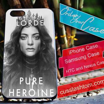 Exclusive Lorde iPhone for 4 5 5c 6 Plus Case, Samsung Galaxy for S3 S4 S5 Note 3 4 Case, iPod for 4 5 Case, HtC One M7 M8