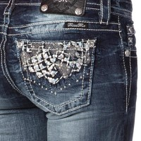 Faded Jewel Capri Jeans
