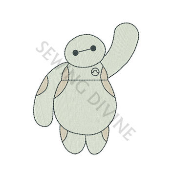 Baymax Machine Embroidery FILL Design 4x4 5x7 6x10 Instant Download Big Hero