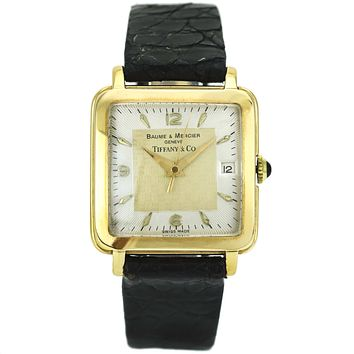 Baume et Mercier for Tiffany & Co. 18k Gold Vintage Men's Watch