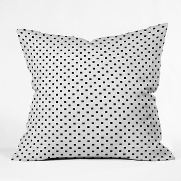 Elisabeth Fredriksson Polka Squares Outdoor Throw Pillow