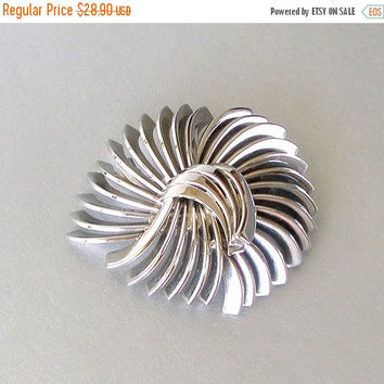 SALE Vintage Art Deco Brooch, Machine Age, Polished Chrome Brooch, 1920s, 1930s, Industrial Age, Abstract Pin.
