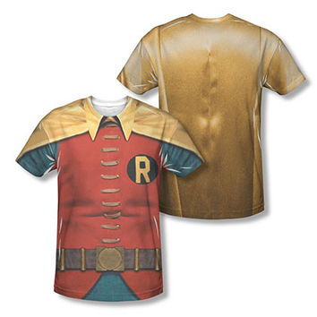 Batman Classic TV Red Robin Two-Sided Sublimation Costume Tee Shirt