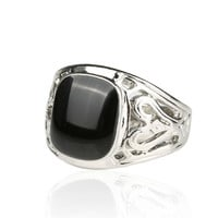 Mens Hollow Out Silver Ring Womens Casual Ring Best Gift Ring -02