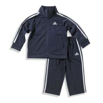 Adidas? Kids Boy's Tricot Tracksuit in Navy