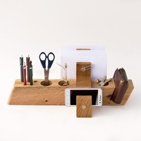 Supermarket: Large Desk Organizer Wood Office Organizer AUGUST from LESS & MORE Vienna
