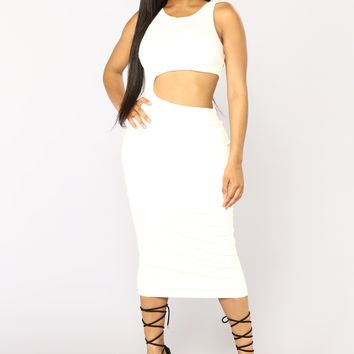 Ensemble Cut Out Dress - White