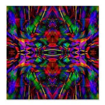 Rainbow Mandala Pattern Shower Curtain> Rainbow Fractal Art Gifts> Hippy Gift Shop Funky Hippie Gifts