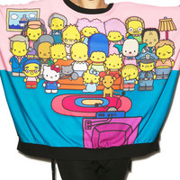 Japan L.A. The Couch Party Poncho Sweater Black One