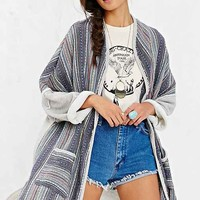 Sloane Rogue Woven-Mixed Cardigan- Blue Multi