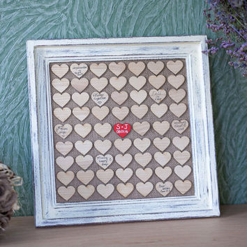 Wedding Guest book, Guest Book Frame, Heart Guest book, Drop Box, Guest book