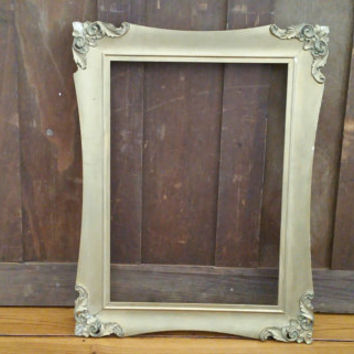 Vintage Gold Gilt Gesso Rectangle Wood Frame Great For Framing and Decor