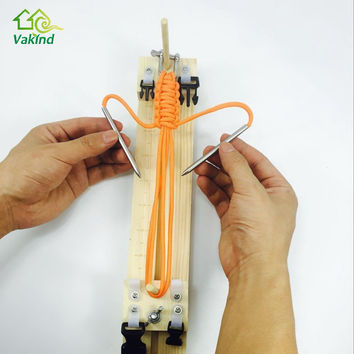 DIY jig solid wood paracord bracelet maker knitting tool Knot Braided Parachute cord Bracelet Weaving Tools