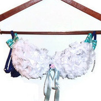 36B Dark Blue Bridal Shower Wedding Honeymoon Decorated Bra