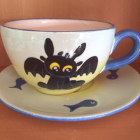 Adorable Baby Toothless Cup & Saucer Set