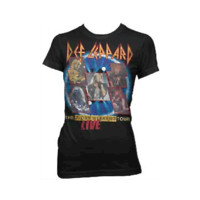Def Leppard – 7 Day Weekend Tour Junior Tee In Black | Thirteen Vintage