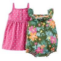 Carter's Dress & Romper Set - Baby Girl, Size: