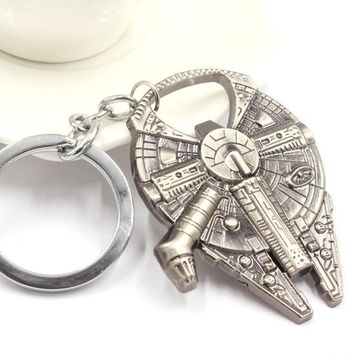 Fashion Star Wars Bottle Opener Millennium Falcon Stainless Steel Beer Opener For Kitchen Dining Bar Cooking Tools