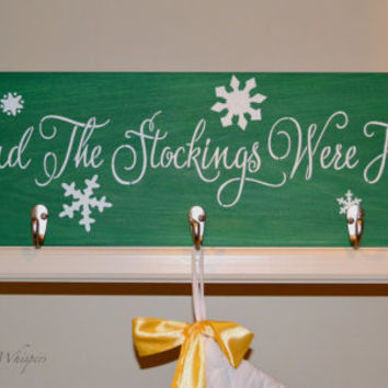 Christmas Stocking Holder - Stocking Hanger - Christmas Stocking Display - Holiday Decorations - Christmas  Wall Decor