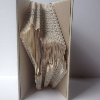 Blue Heeler, Cattle Dog Folded Book Art, Folded Pages, Recycled, Upcycled
