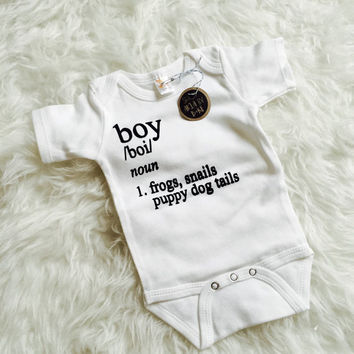 Definition of a Boy Infant/Toddler Apparel. Bodysuits or Toddler Tees Available!