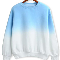 Blue Fade Long Sleeve Sweatshirt