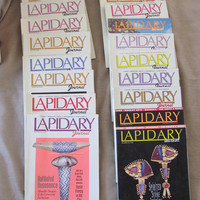 VINTAGE LAPIDARY JOURNAL 1992-93, 20 Back Issues, Collectible Magazines, Jewelry Making, Stone Setting Crafts