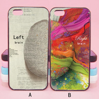 Left Brain,Right Brain,couple case,iPod touch5,iPhone 5s/ 5c/5/4S/4 ,Samsung Galaxy S3/S4/S5/S3 mini/S4 mini/S4 active/Note 2/Note 3