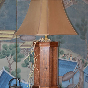 "Beautiful  Handmade Mahogany Octagon 36"" T Table Lamp by Kagumise, Designer Lamp and Shade"