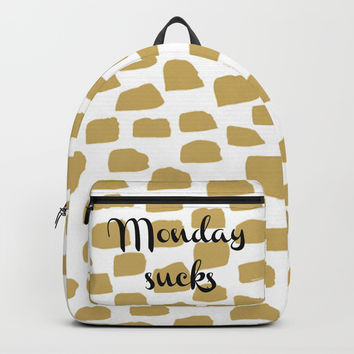 Monday sucks Backpack by Estef Azevedo