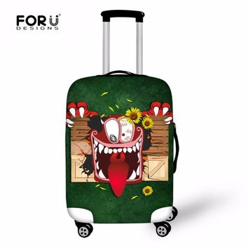 FORUDESIGNS Monster Elastic Luggage Cover Protective Suitcase Travel Kawaii Case Cover For Women Trolley With Zipper Accessories