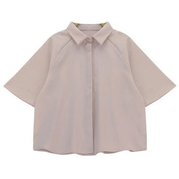 Button Detail Blouse