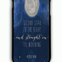 iPhone 6 Plus Case - Rubber (TPU) Cover with Disney Peter Pan Quotes Rubber Case Design