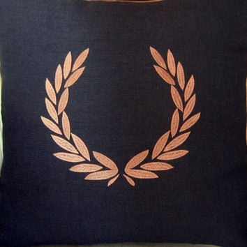 GREEK WREATH embroidery pillow covers 3  colour to choose cushion covers,decorative throw pillow covers